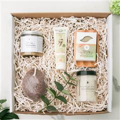 Foot Care Spa box includes all natural Dead Sea Salt Soak, pumice stone, sugar scrub, vegan soap, soap dish,Aphrodite Natural Aloe foot cream