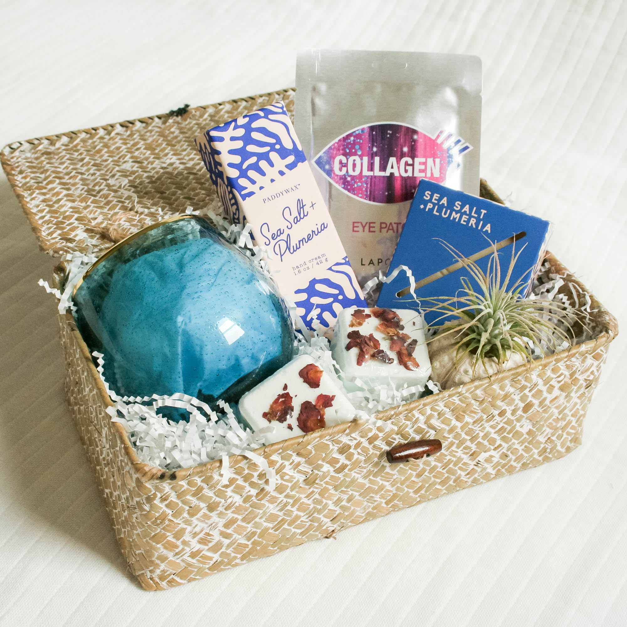 From bath salts to body spray that all smell like the ocean, this is a wonderful basket for someone who deserves some time alone to relax and unwind.