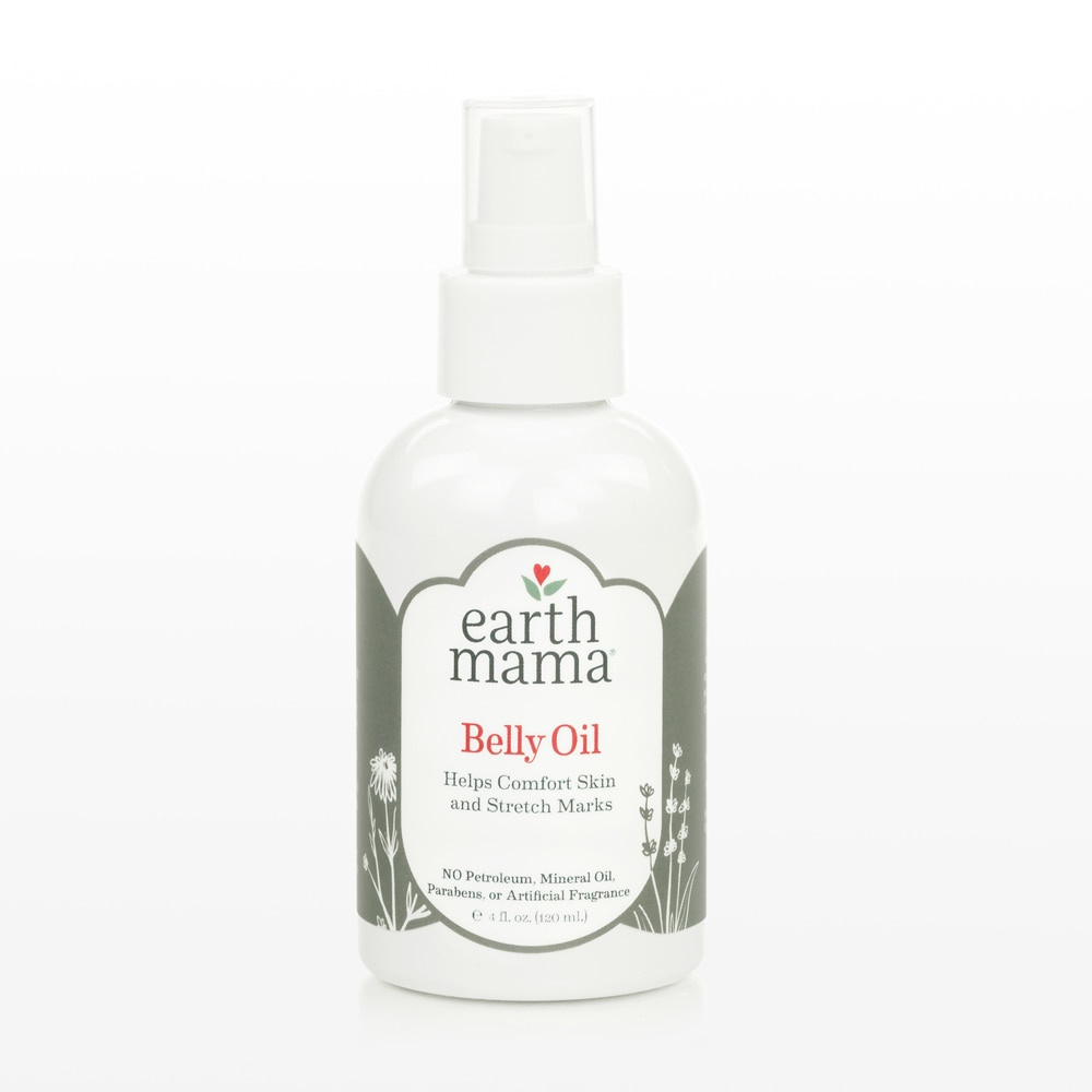 Earth Mama Belly Oil 4 oz. Helps comfort skin and stretch marks