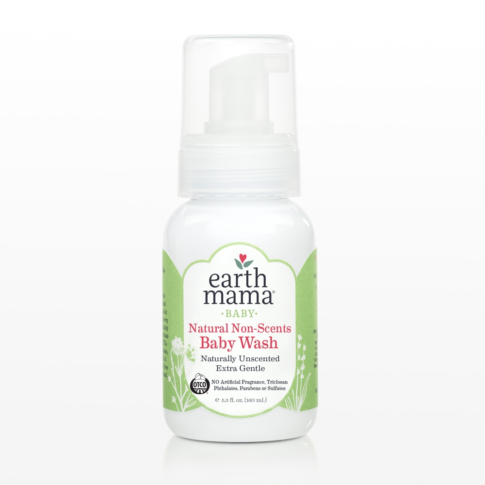 Earth Mama Non-Scents Baby Wash, extra gentle.