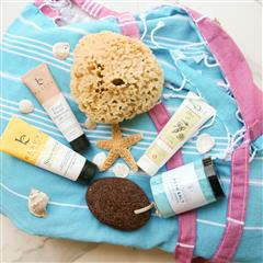 Pamper and soothe the body with a day at the beach or pool. Water in general is soothing and calming to the mind, body and soul. So this summer try long baths, go to the pool or plan a trip to the beach. Our exclusive Beach Day Essentials Gift is overflowing with bath and body essentials that are inspired and derived from the sea, like enriching Ocean Breeze soaking salts, a Florida natural sponge, and so much more. 