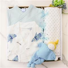 A charming summer motif sweetens baby's bedtime looks with this comfortable two-piece cotton muslin pajama gift.