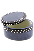 Polka Dot Oval Soapstone Box