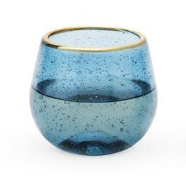 Dee Blue stemless bubble glass