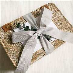 White Wash Keepsake Basket