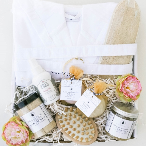 New Mom Spa Day gift basket from New Mom category