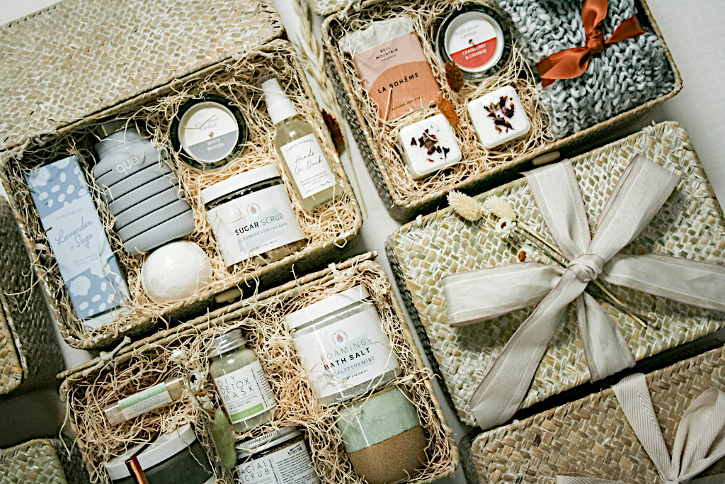 Curated gift baskets